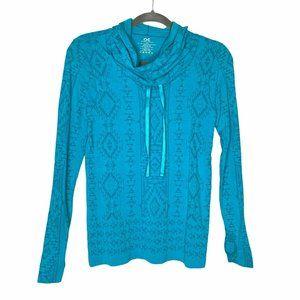 Athletic Essentials Aqua Blue Pullover Shirt